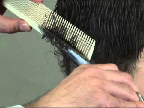 How to cut men's hair - Cut Men's Hair with scissors