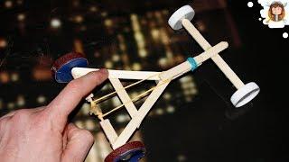 getlinkyoutube.com-How to make a Rubber Band powered Car - ( Homemade Toy)