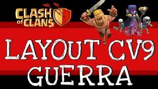 Clash of Clans | 3 melhores Layouts Guerra CV9 #1