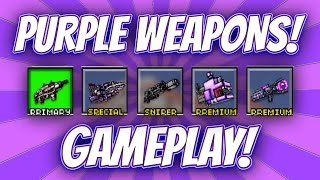 getlinkyoutube.com-Pixel Gun 3D - Purple Weapon Gameplay!