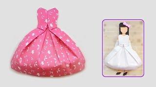 Origami bride dress/ พับชุดกระโปรงเจ้าสาว
