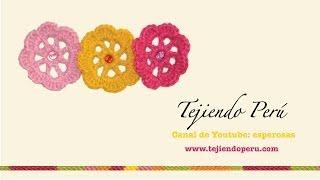 getlinkyoutube.com-Flores fáciles de tejer a crochet