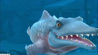 getlinkyoutube.com-Hungry Shark Evolution Mr Snappy (Mosasaurus) Gameplay New Prehistoric predator 2015