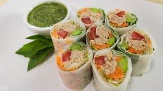getlinkyoutube.com-Tuna Spring Rolls - Hot Thai Kitchen