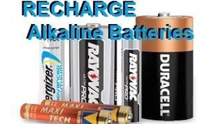 getlinkyoutube.com-recharge Alkaline Batteries Duracell Energizer Rayovak AA AAA C D