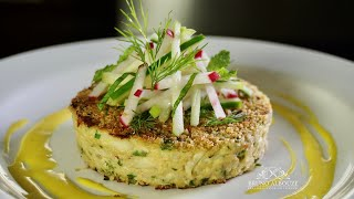 getlinkyoutube.com-Crab Eggplant Cakes  - Bruno Albouze - THE REAL DEAL