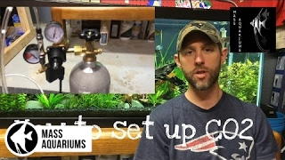 getlinkyoutube.com-How to set up Pressurized CO2 in a planted tank. Setting up Pressurized C02 made easy