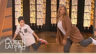 getlinkyoutube.com-Hip-Hop Sensation Teaches Dance Steps to Queen Latifah