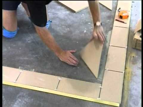 How To Tile & Grout Part 3: Tiling The Floor, The Best W