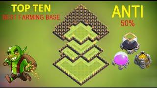 Clash Of Clans - Town hall 9 ( TH9 ) Farming Base TOP TEN ANTI 50% Dark Elixir & Gold + Replay