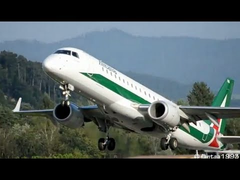 Embraer ERJ-190 Alitalia in Berne HD