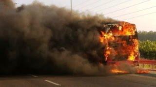 getlinkyoutube.com-احتراق حافلة ستيام قرب مراكش واكادير اليوم