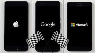 getlinkyoutube.com-iPhone 6S Plus vs. Nexus 6P vs. Lumia 950 XL Speed Test