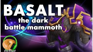 getlinkyoutube.com-SUMMONERS WAR : Basalt the Dark Battle Mammoth - Gameplay Spotlight