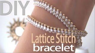 getlinkyoutube.com-DIY Fashion ♥ Lattice Stitch Bracelet