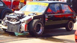 getlinkyoutube.com-Opel Corsa Turbo CRAZY 1/4 Mile Drag Race Acceleration 10,1 SEC Beschleunigungsrennen Crazy