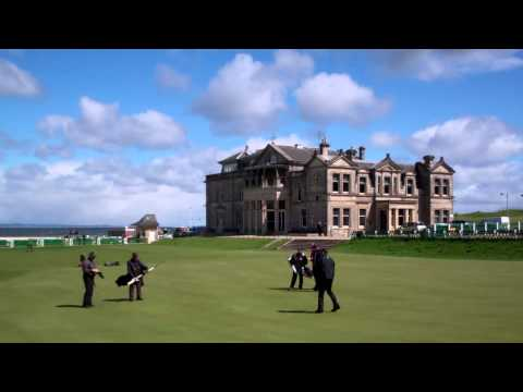 Hans Svedberg Putting 18th Green Old Golf Course St Andrews Fife Scotland