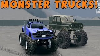 getlinkyoutube.com-SpinTires | Mods | MONSTER TRUCKS! | Download Links In Description