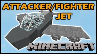 getlinkyoutube.com-[1.9 Vanilla Minecraft] ATTACKER/FIGHTER JET PLANE in 22 commands