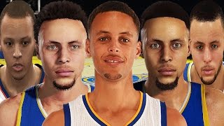 getlinkyoutube.com-Stephen Curry From NBA 2K10 to NBA 2K17