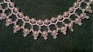 getlinkyoutube.com-Beading4perfectionist : Swarovski 6mm pearl and 4mm bicone necklace beading tutorial