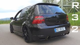 getlinkyoutube.com-VW GOLF 4 R32 STRAIGHT PIPE - ACCELERATION SOUND ONBOARD AUTOBAHN 0-200 KM/H
