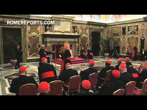 Benedict XVI says goodbye to all cardinals in Rome  pledges allegiance to next Pope