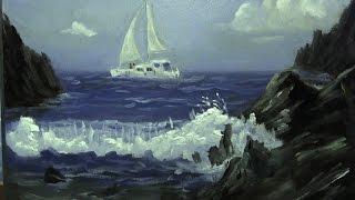 getlinkyoutube.com-Sail Boat Sea - Painting Lesson