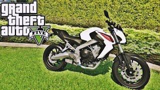 getlinkyoutube.com-GTA V ROLE DE HONDA CB 650 F- MOD MOTO