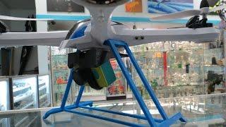 getlinkyoutube.com-NEW - Tarantula X6 Mod - Version 2, 3D Printed landing gear, and Xiaomi Yi 30 degree camera mount