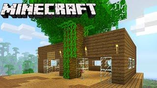 getlinkyoutube.com-Minecraft: CASA NA ÁRVORE E FLORESTA! - Sobrevivendo com Lipão #49