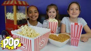 getlinkyoutube.com-Vintage Popcorn Maker Cart   DIY - Homemade Yummy Popcorn - Kids Candy & Sweets Review