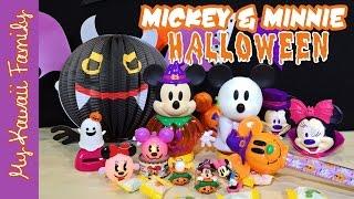 getlinkyoutube.com-Mickey & Minnie Mouse Kawaii Halloween Toys! Gashapon, Crane Game Toys, Japanese Goods