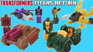 getlinkyoutube.com-REALLY TINY TRANSFORMERS TITAN MASTERS TITANS RETURN ONE STEP CHANGERS WAVE 2 COLLECTION