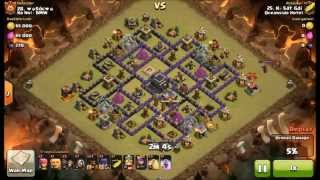 getlinkyoutube.com-Clash of Clans - Defeat Air sweeper - Attack 3 stars TH9 Lava Hounds Balloons