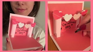 getlinkyoutube.com-How to Make a Cute Homemade Pop Up Valentine's Card - VERY EASY