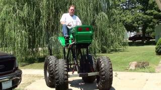 getlinkyoutube.com-Awesome Monster Lawn Mower - Start-up and Drive