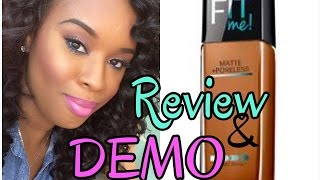 getlinkyoutube.com-Maybelline Fit Me Foundation| Matte + Poreless