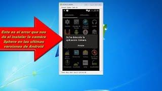 Solución - Error se ha detenido la aplicacion Camara Android 4.0 o superior