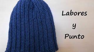 getlinkyoutube.com-Aprende a tejer un gorro sencillo para chico o chica en dos agujas