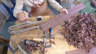 getlinkyoutube.com-Bending Guitar sides by hand