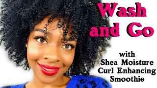 getlinkyoutube.com-Wash and Go with Shea Moisture Curl Enhancing Smoothie