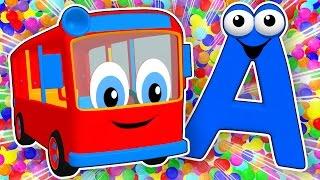 getlinkyoutube.com-SUPER CIRCUS 3D Alphabet Buses | Learn ABCs for Kids, Teach Colors, 3D Baby Rhymes by Busy Beavers