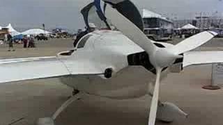 Cozy Mark IV, 4 seat Canard DIY Airplane, 200 mph 1000mile range. Salinas CA Air show 2008 -12