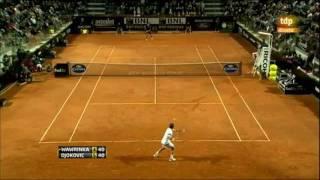 2011 Rome: Djokovic Four Points From R3 (171&154km/h winner)