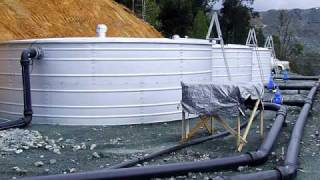 Steel bolted water tanks with liners
