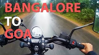 BANGALORE TO GOA by road on avenger 220 street !