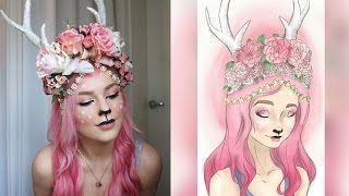 getlinkyoutube.com-PINK DEER MAKEUP TUTORIAL