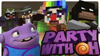 getlinkyoutube.com-Batman and Robin Party with OH from HOME! (Minecraft Roleplay)