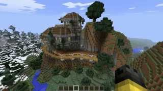 Minecraft - Постройки - Карты - Дом на скале